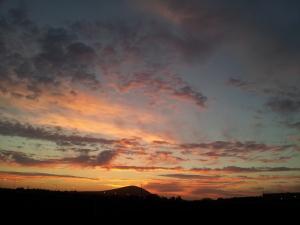 Sunset near Finley, WA